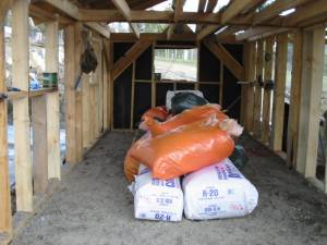 insulation, building a barn