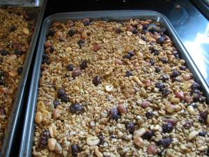 fruits and nuts, country living in a cariboo valley, homemade granola