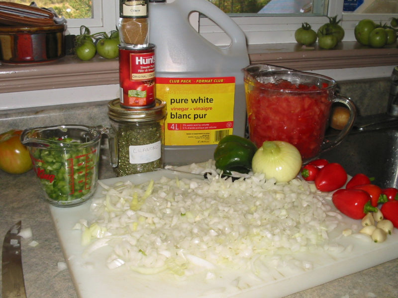 Making and Canning Salsa