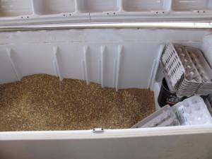 Use Old Freezers to Store Livestock Feed