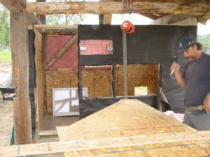 chicken coop in progress Jun 4 2007 300x225 Our Barn   Wordless Wednesday