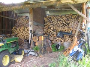 Cleaning up the Wood Shed - Country Living in a Cariboo Valley