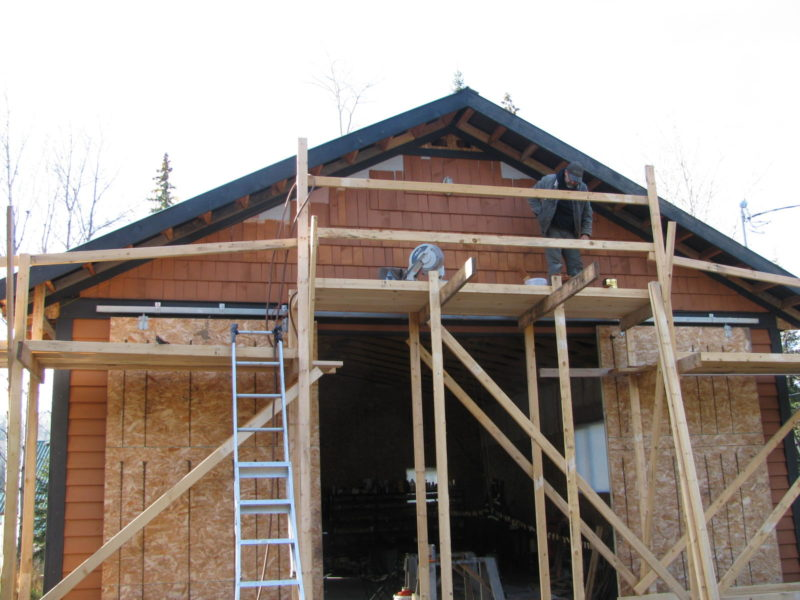 Finishing the Gable Ends at the Shop