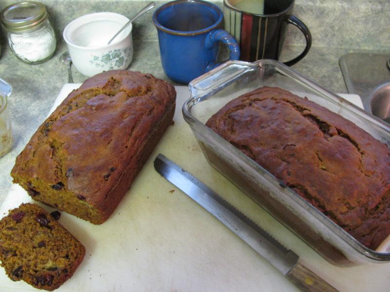 Pumpkin Cranberry Banana Bread – Recipe