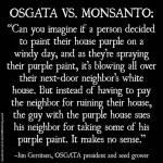 Monsanto purple paint