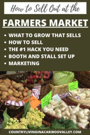 a book cover about how to sell at the farm markets