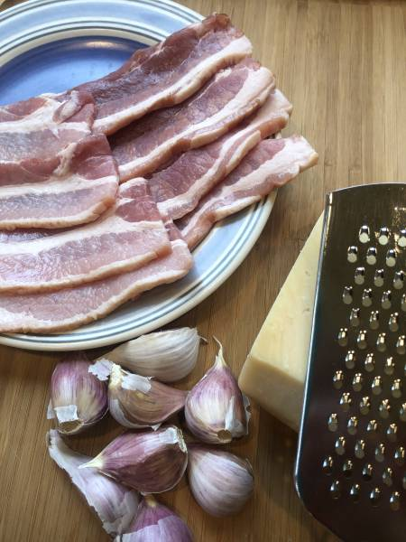 Garlic wrapped in bacon make for this easy delicious appetizer.