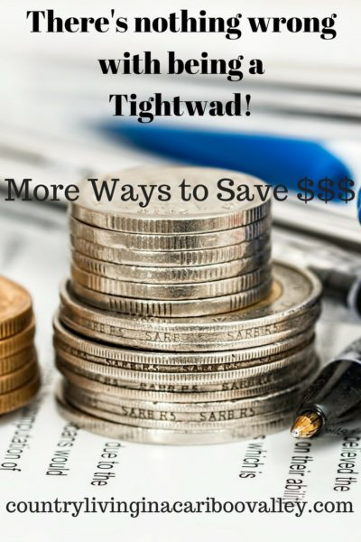 Being a Tightwad