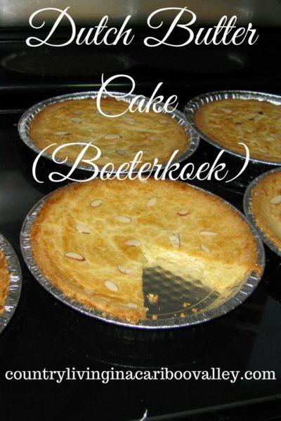 Boeterkoek – Almond Butter Cake Recipe