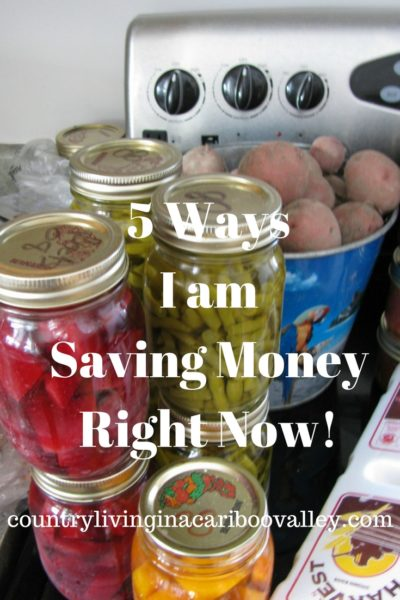 5 Ways I Am Saving Money Right Now