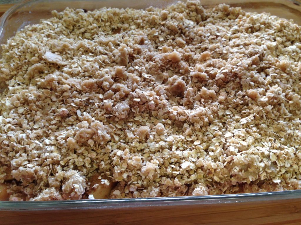 easy apple crisp, fruit, dessert