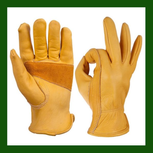 leather gloves, work gloves