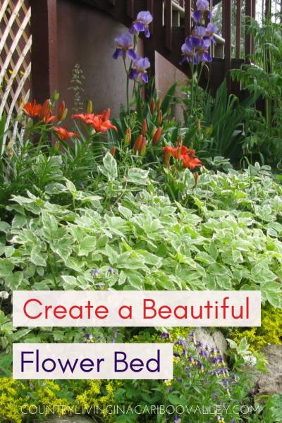 Add some pretty flowers to your yard. Here's how we made a long flower bed and pathway. Perennials bloom and grow every year. #gardening #flowers #DIYgardening #perennials