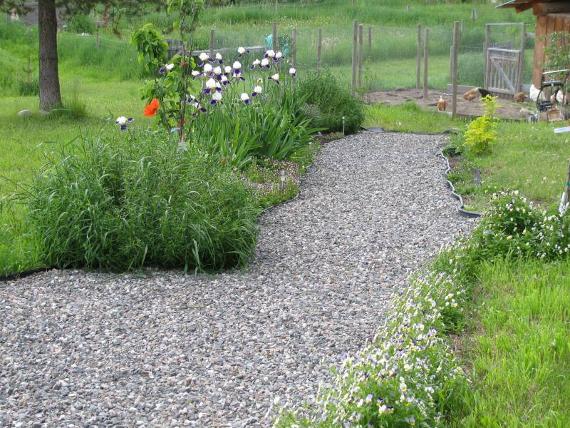 How to make a gravel path for your front yard or back yard.